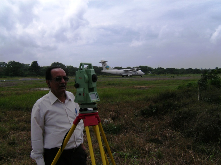 Survey work at Jamshedpur Airport
