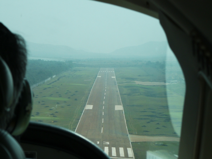 Approach to land at JSW Vijayanagar Airport (Karntaka)