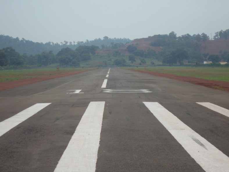 Runway at Barbil Airport (Odisha)
