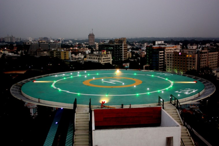 ITC Gardenia Helipad for Night Landing